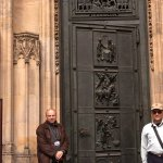 Ornate brass door in St. Vitus Cathedral