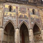 Beautiful murals on St. Vitus Cathedral, north east view