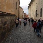 Street inside Prague castle