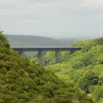 Meldon viaduct from Meldon Dam