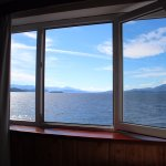 Hotel Huemul: Vista desde la habitación con vista al Lago Nahuel Huapi.
