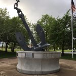 Naval Park - anchor on display