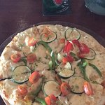 Delicious vegetarian and gluten free pizza