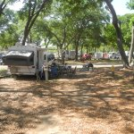Our campground site