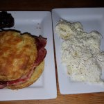 Ham Biscuit with egg whites