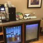 This is the executive lounge, drink options