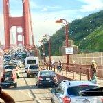 Golden Gate Bridge afternoon traffic
