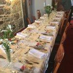 table joliment décorée