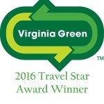 "Awarded with the ""2016 Virginia Green Travel Star Award"""