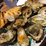 Flaming Oysters and Garlic Toast