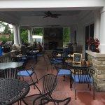 The outside patio