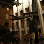 The main entrance is dominated by examples of modern warware from a WW1 canon to a Harrier Jet