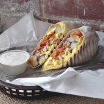 Breakfast burrito of champions!