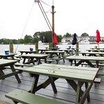 Open deck dining - best place to get a table