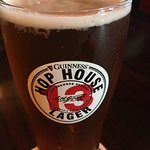 New beer in town.  Guinness Hop House Lager.  Nice flavour.