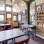 Train Car Dining Area
