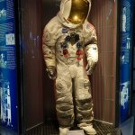 """Used"" space suit - complete with moon dust on legs and knees!"