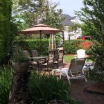 One of Two Patios with Heat Lamps at this Charming Nantucket Bed & Breakfast