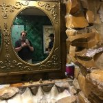Cave man men's room