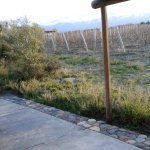 The Andes in the background. Terrace of the room