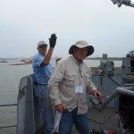 Volunteers restoring one of our 40mm guns