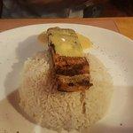 salmon con arroz blanco