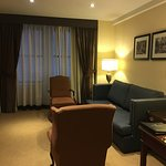 A surprise suite, not just a bedroom. Very comfy sofa and chairs.