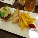 Burger. Too simple for such place.