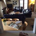 Mill Barn - communal kitchen, lounge, diner. Beautiful views.