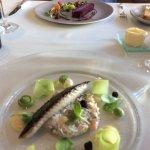 Mackerel tartare and seared mackerel fillet