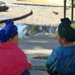 Native ladies relax in Plaza Central Park