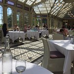 Beautiful setting! The orangery, where afternoon tea is served.