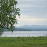 View of Lake Champlain from our campsite