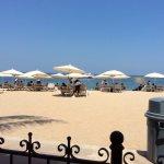 Beach setup for the Playa Los Arcos Hotel