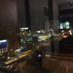 looking out onto clark street from room
