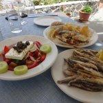 Oia seafood - fried sardines -yummy