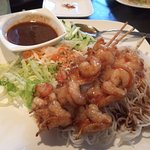 Shrimp with vermicelli