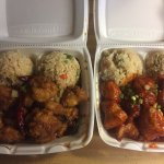 General Goa Chicken & Orange Chicken.