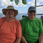 Brother & I on Dive Paradise Boat before our first dive