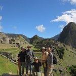 Happy travelers at Machu Picchu