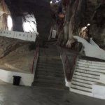 Perak Cave Temple / steps to the higher floor inside the temple