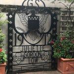 An iron gate JGL designed herself