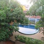 Pool area from room balcony