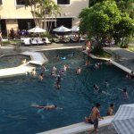 Large pool area for adults and kids.