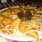 Golden fried prawns, chicken fried rice and pepper chicken... All yummy dishes