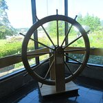 Stern Ship Captain's Wheel, Bonneville Dam Visitor Center, Columbia River Gorge