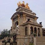 The beautiful fountain in parc de la Ciutadella