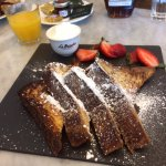 Strawberry French Toast with REAL Maple Syrup