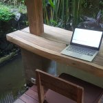Outside writing desk
