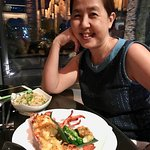 My sister Arlene had one of the chef's recommendation - grilled lobster. YUM!